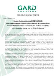 Conseil d'Administration de Gard Tourisme