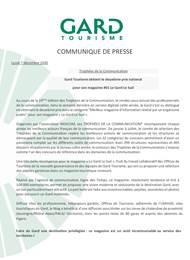 Trophées de la communication pour le Mag#01 Le Gard Le Sud