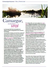 Communiqué de presse Camargue