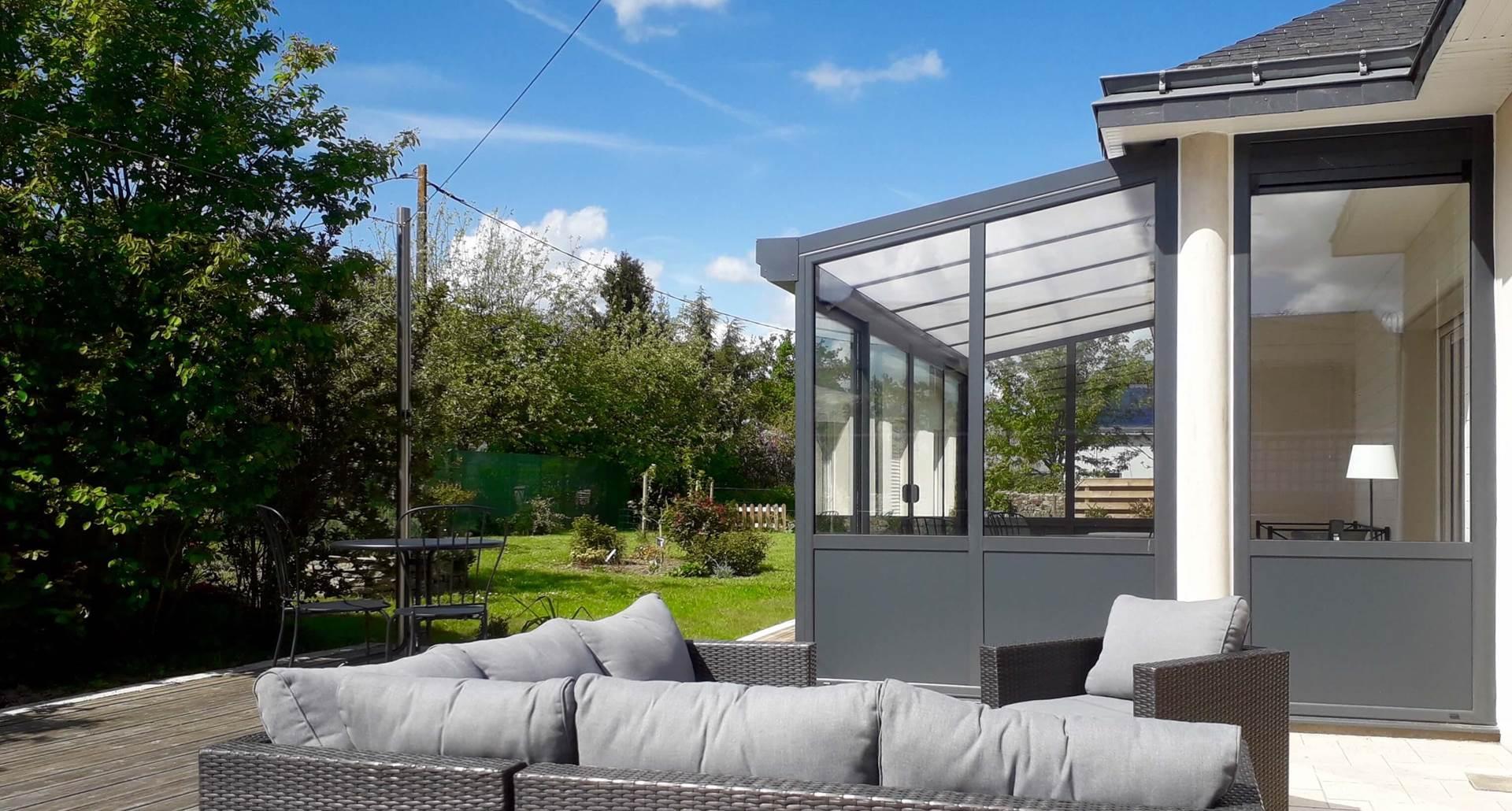 terrasse et jardin en accès libre