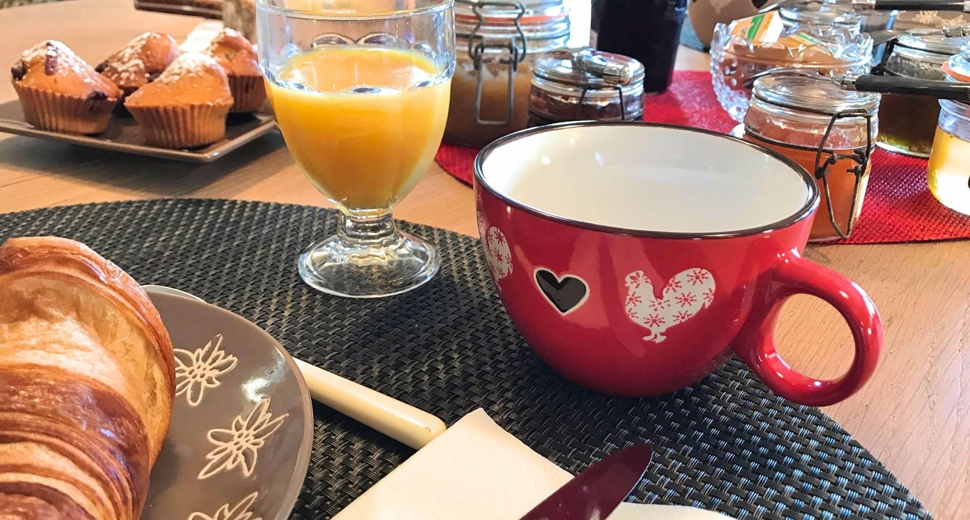 Un petit déjeuner à Côté Granges