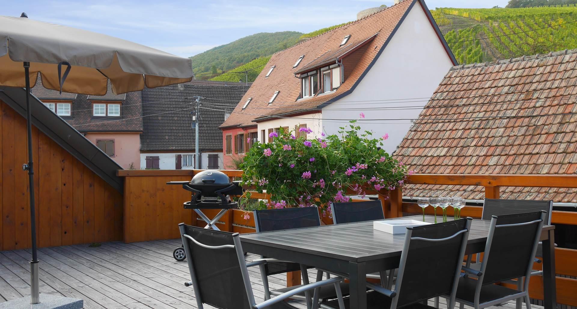 vue sur un château en Alsace