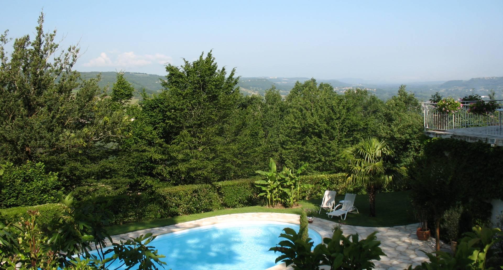 Villa Ric, repos et gourmandise à Saint-Céré proche Rocamadour, vue nature