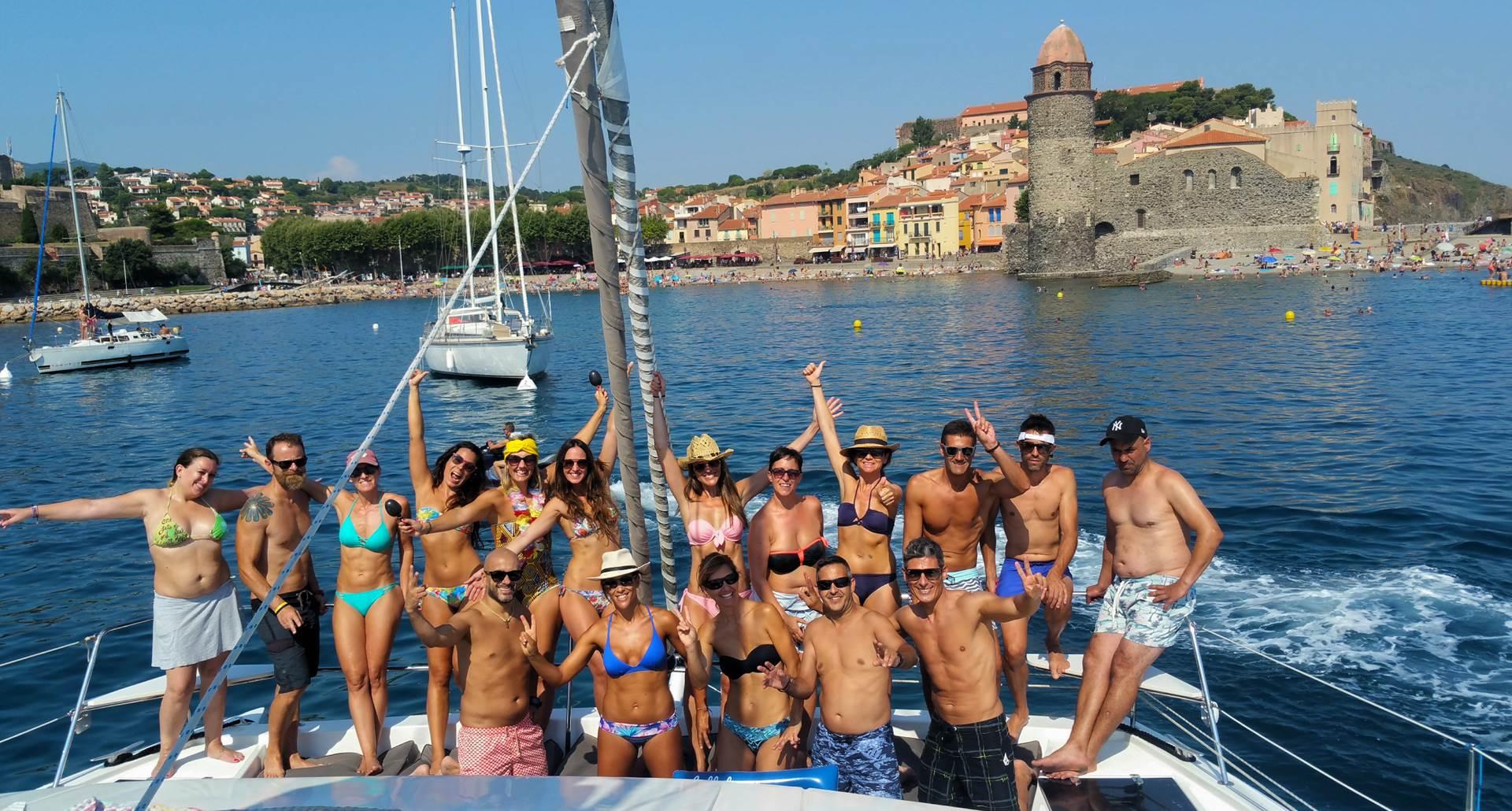 Catamaran Rina à Collioure