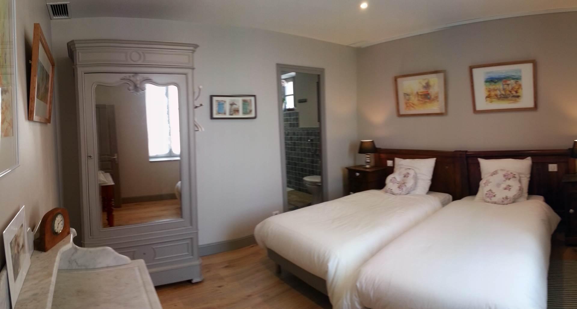Chambre Fernande, niveau 0 Lit 180 cm séparable