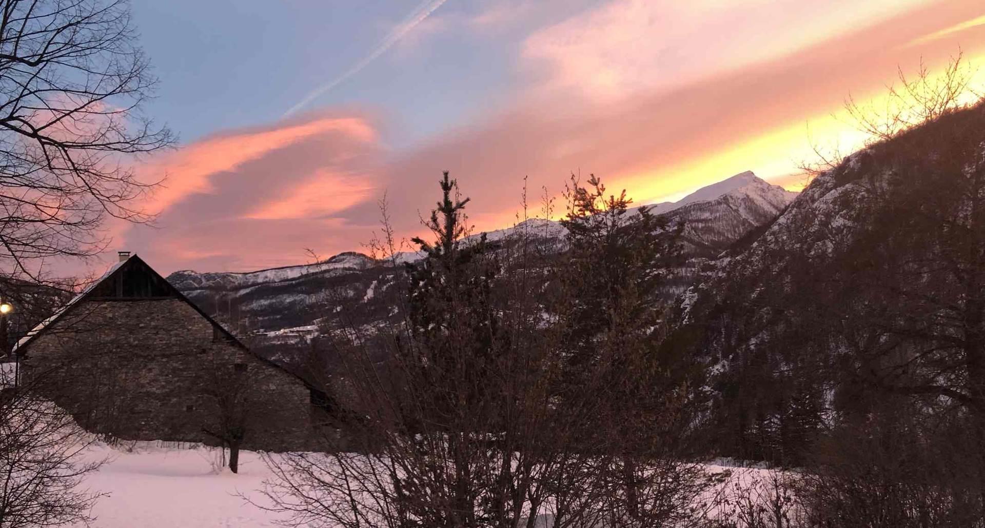 Soleil d'un soir d'hiver