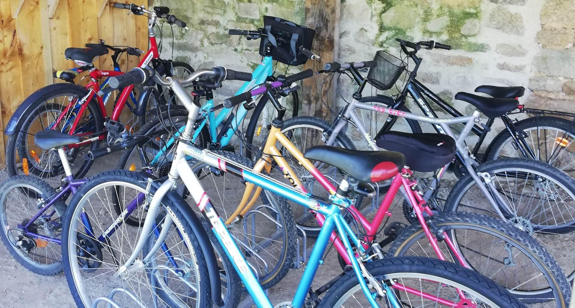 vélos réservés aux locataires du gîte