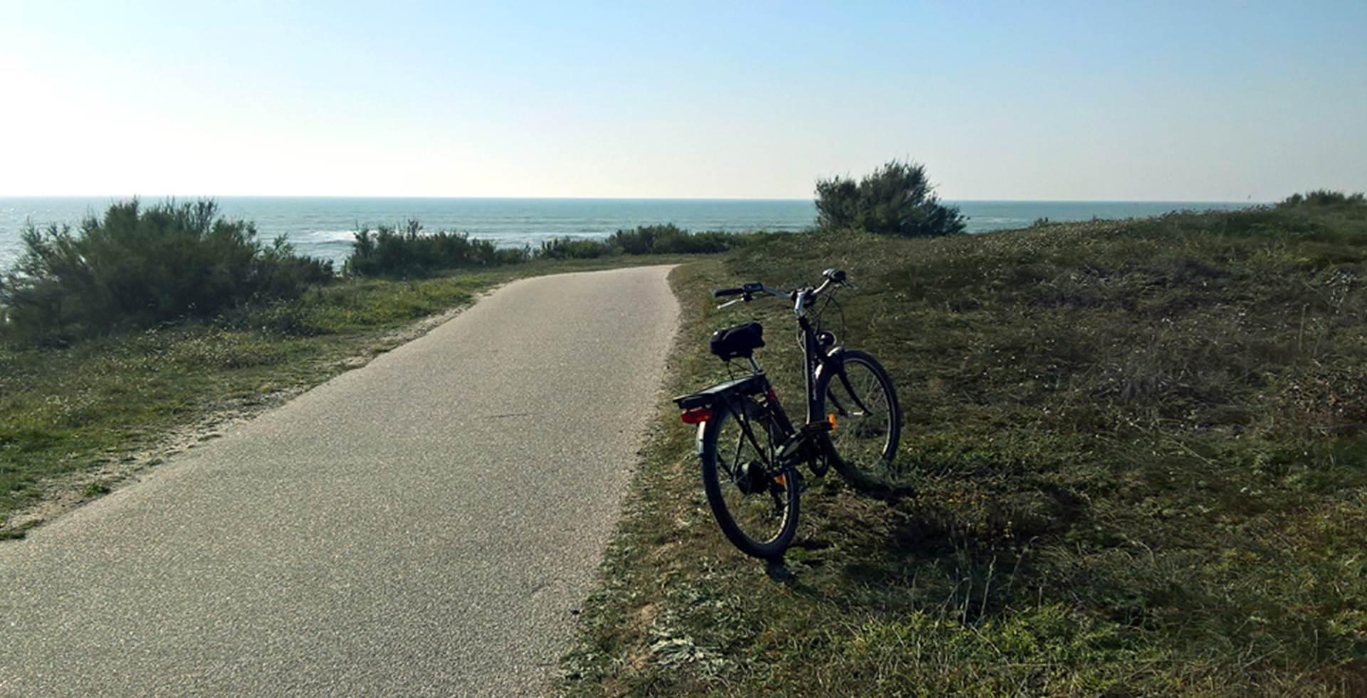 Piste cyclable le long du littoral vendéen