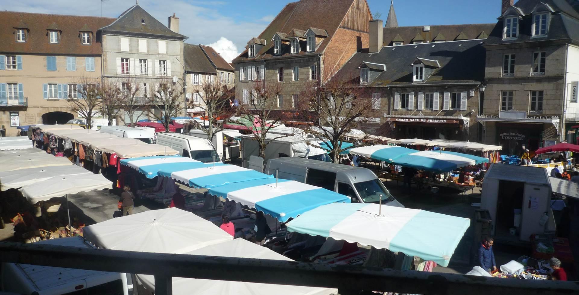 Le marché de Felletin fait parti des plus beaux marchés de la Creuse