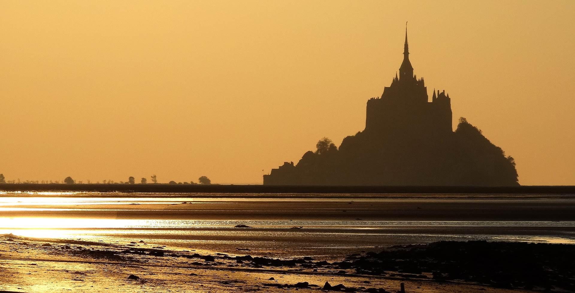 Coucher de soleil au Mont Saint-Michel
