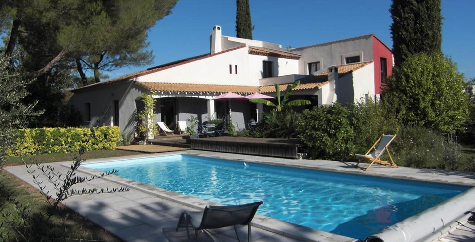 piscine la Soucarède Grabels montpellier maison d'hôtes