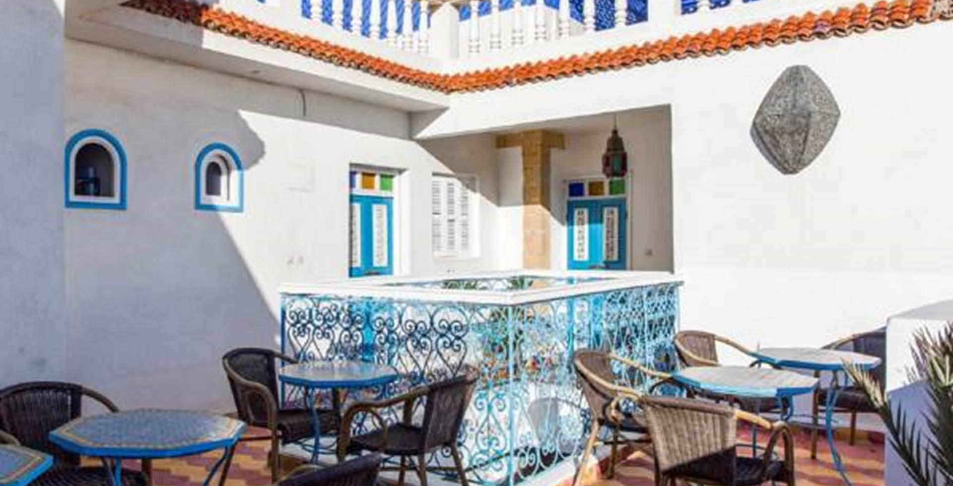 Soleil, terrasse, Essaouira