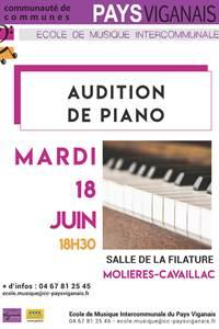 Auditions de piano des élèves de l'Ecole de Musique