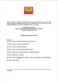 Mercredi 12 juin 2019 sur le territoire de la Communauté de Communes Causses Aigoual Cévennes