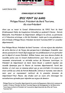 CA de l'EPCC Pont du Gard 2016