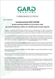 Assemblée générale Gard Tourisme