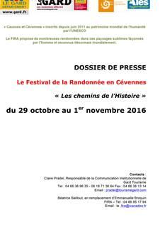 Festival de la Randonnée en Cévennes - Automne 2016