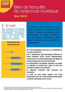 Bilan conjoncture touristique Mai 2019