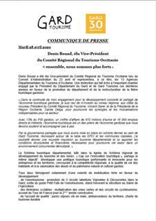 Denis Bouad, élu Vice-Président  du Comité Régional du Tourisme Occitanie  « ensemble, nous sommes plus forts »