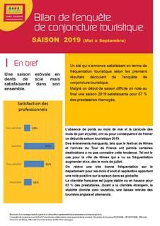 Bilan conjoncture touristique Gard Saison 2019