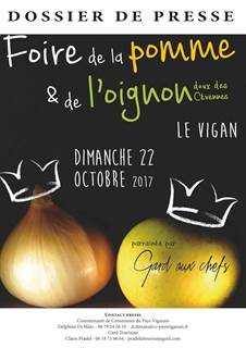 La foire de la pomme et de l'oignon doux des Cévennes 2017