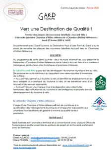 Remise des plaques des nouveaux labellisés « Accueil Vélo »