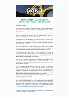 Newsletter Courrier du président 02/06/2020