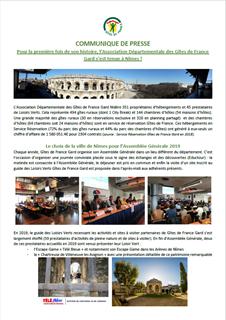 Pour la première fois de son histoire, l'Association Départementale des Gîtes de France Gard s'est tenue à Nîmes !