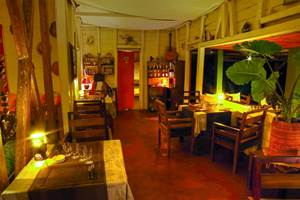 Le restaurant chez Idylle Beach Nosy bora MADAGASCAR