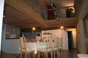 La salle à manger à Noel