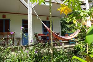 la terrasse depuis le jardin