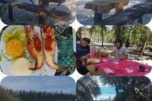 journée sur la plage de kutomo avec pause déjeuner