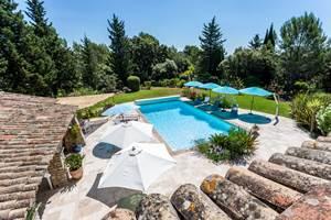 Jardin + piscine_vue terrasse