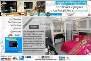 Les Belles Époques B&B Capture d'écran site internet flash