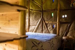 La cabane paille, côté nuit