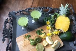 Petit déjeuner Healthy Manoir de la Villeneuve , jus
