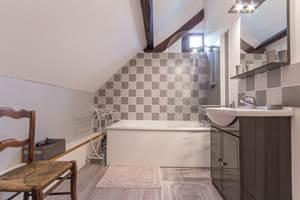 Salle de bain  - Gîte du Petit Coq - aux3nidsfleuris