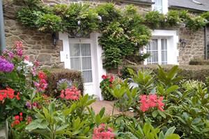Clos de la Fontaine Dinard, les fleurs dans la cour