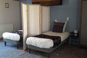 Chambre Alsace version deux lits simples et paravent