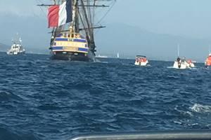 Arrivée de l'Hermione à Port Vendres