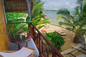 Terrasse chambre Mer Idylle Beach Ile sainte Marie MADAGASCAR