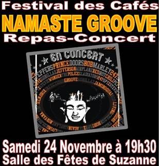 Festival des cafés - Namaste Groove - Repas concert