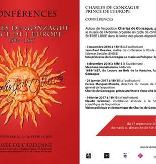 Conférences - Exposition Charles de Gonzague, prince de l'Europe
