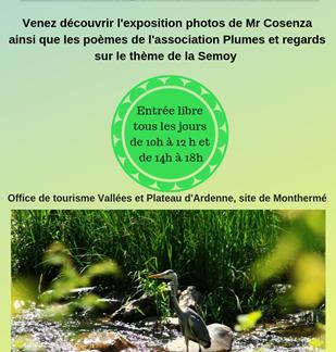 Exposition de photos Mr Cosenza et poèmes de l'association Plumes et Regards sur le thème de la Semoy