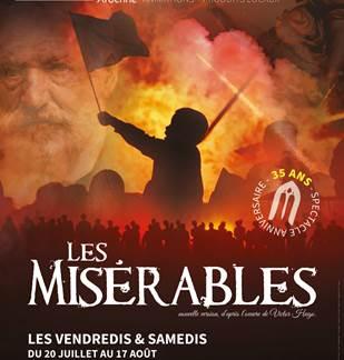 Spectacle son et lumière La Cassine : Les Misérables