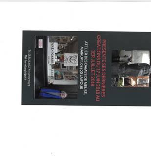 Exposition de sculptures à l'atelier des Dames de Meuse à Laifour