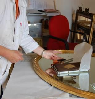 Journées Européennes des Métiers d'Art, atelier de dorure sur bois