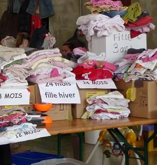 Bourse aux vêtements enfants