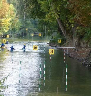 Compétition AJR slalom de canoe kayak