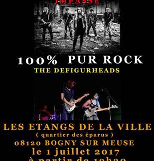 Concert 100% pur rock aux Étangs de la ville de Bogny-sur-Meuse